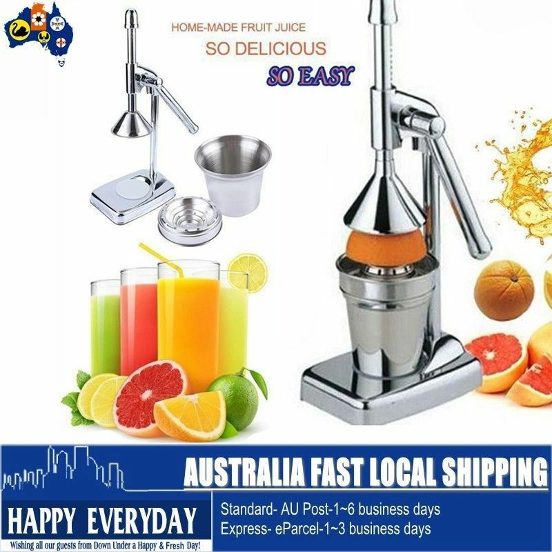 Tefal Cold Press Juicer Zc500 : Stainless Steel Hand Press Orange Fruit Citrus Home-made Juice Juicer Extractor eBay