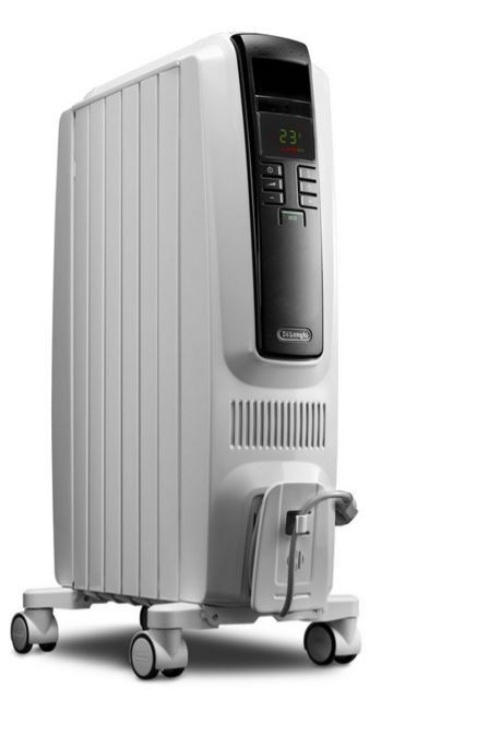 De 39 longhi 5 120 btu oil filled radiant electric portable for Electric radiant heat thermostat