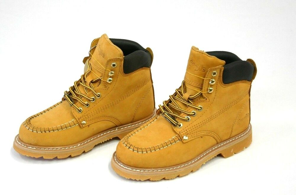 Mens Work Boots Oil Resistant Stitched Genuine Leather