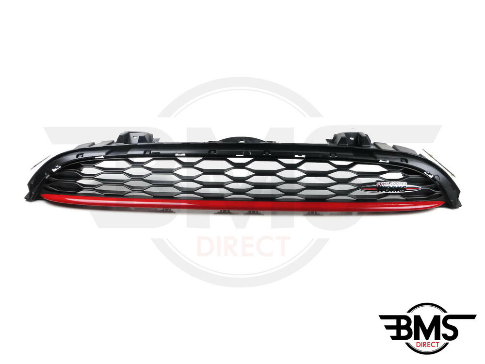 bmw mini jcw john cooper works front grill with chilli red. Black Bedroom Furniture Sets. Home Design Ideas