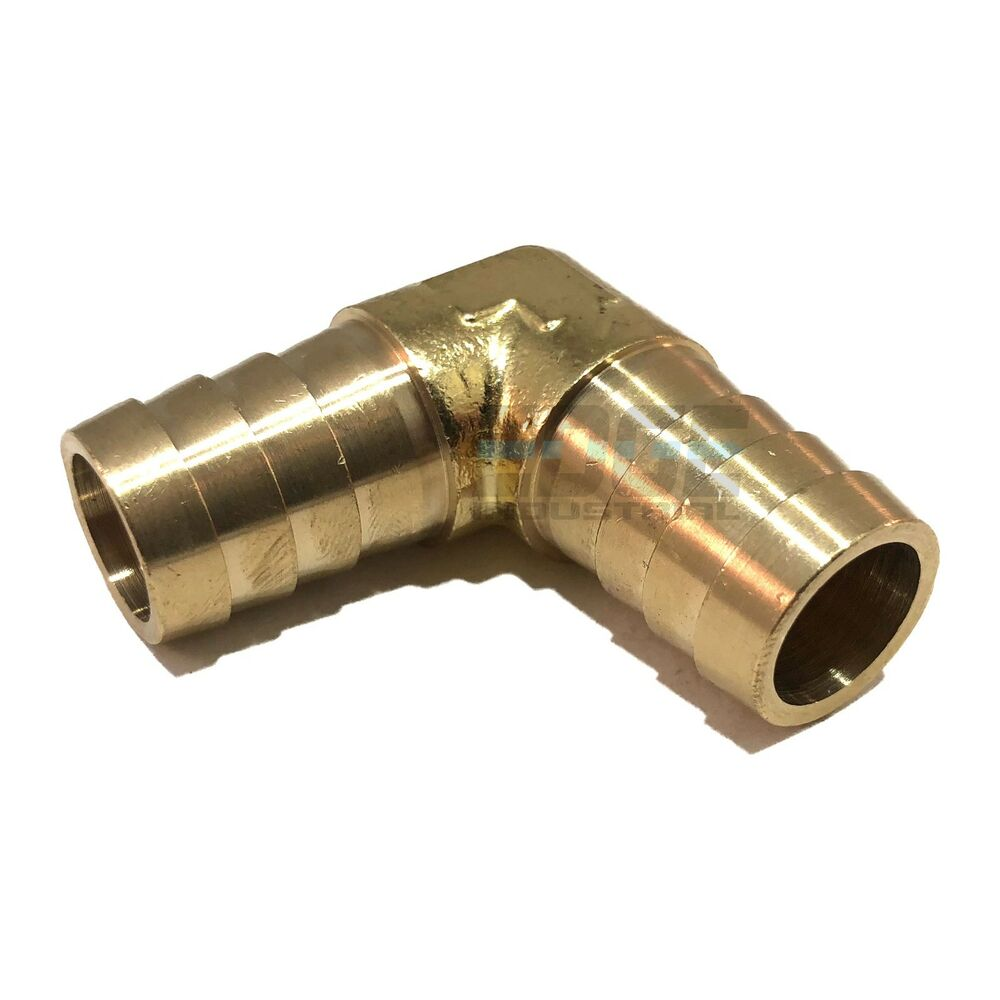 Hose barb elbow degree brass pipe fitting union gas