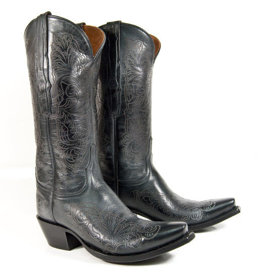 lucchese m4965 womens black laser etch leather western