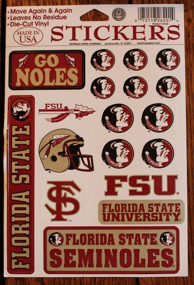 Florida State Seminoles College Football Decal Stickers