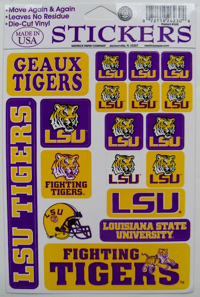 Louisiana State Tigers Decal Stickers Football College Lsu