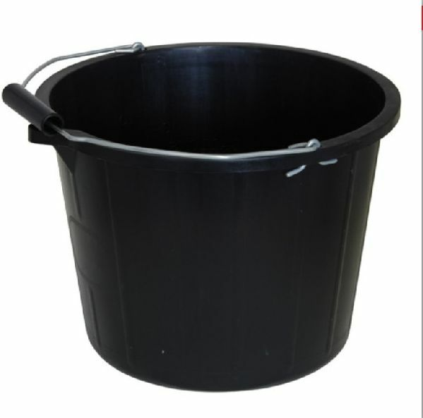 15 Litre Black Plastic Bucket With Handle Uk Dhl Tracked