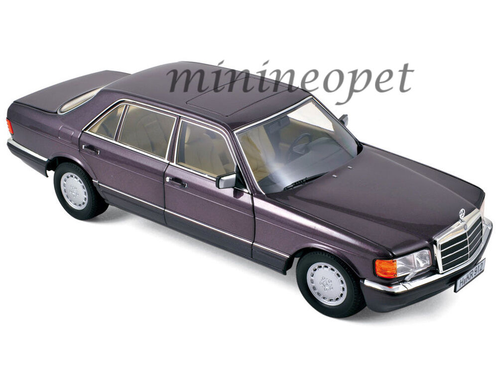 norev 183544 1991 mercedes benz 560 sel 1 18 diecast bornit metallic purple ebay. Black Bedroom Furniture Sets. Home Design Ideas