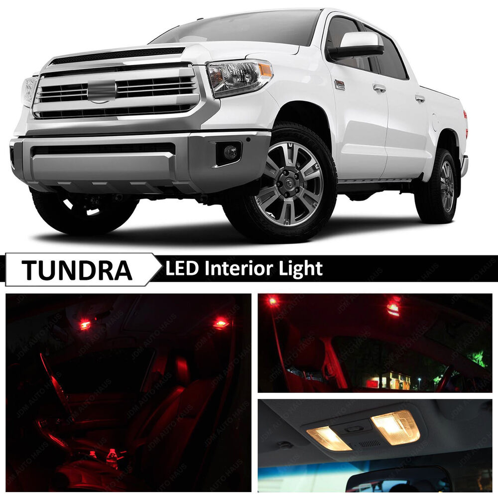 18x Red Interior Led Lights Package Kit For 2007 2016 Toyota Tundra Ebay