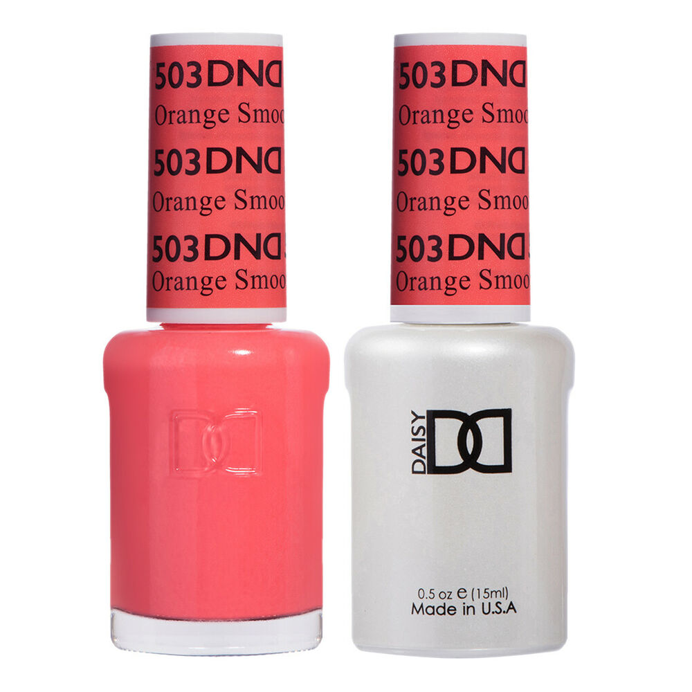 DND Daisy Duo Gel W/ Matching Nail Polish Lacquer -ORANGE