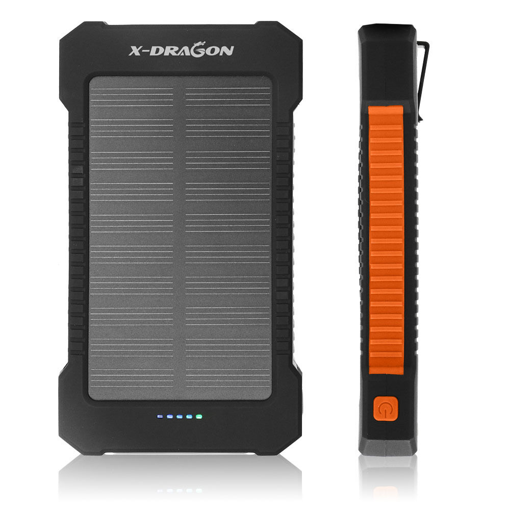 x dragon 20000mah powerbank solar ladeger t batterie akku externer handy orange ebay. Black Bedroom Furniture Sets. Home Design Ideas