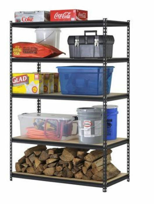 garage storage shelf edsal ultra rack shelving storage organizer shelves steel 15744