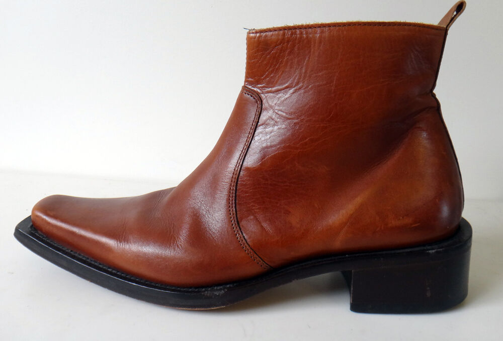 Skechers Collection Italy Leather Ankle Boot Pointy Square