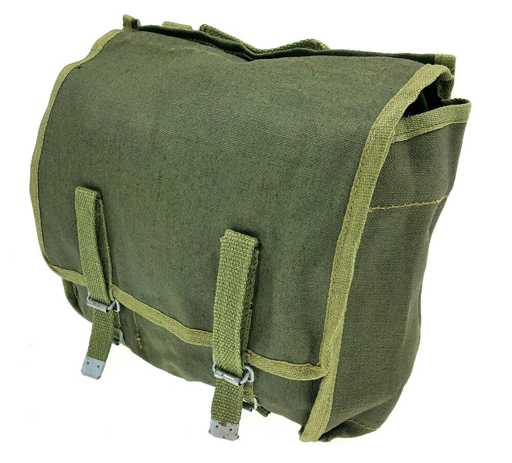 army canvas bag surplus od green pouch
