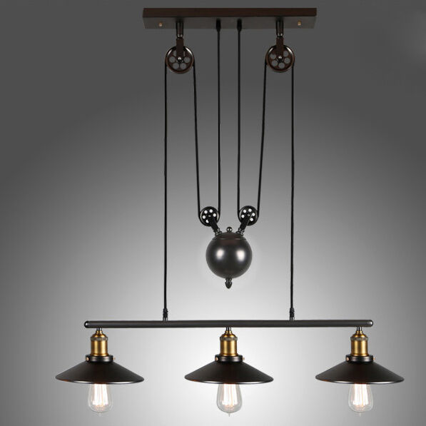 Chandelier Retro Industrial Pendant Light Adjustable