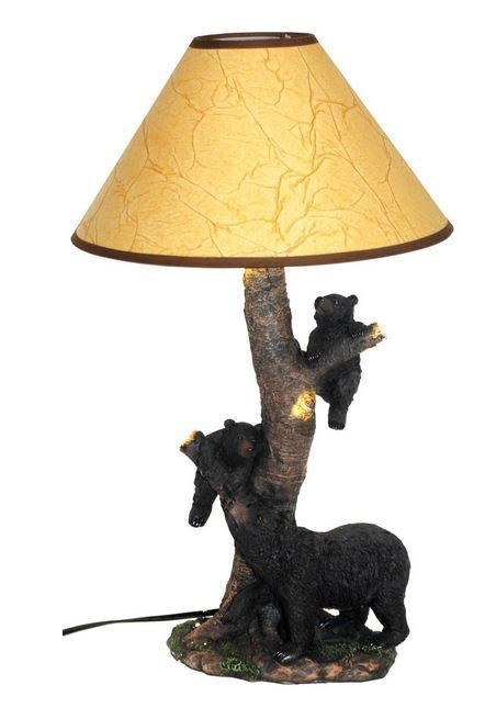 Western Black Bears Table Desk Lamp Light Mother Amp 2 Cubs
