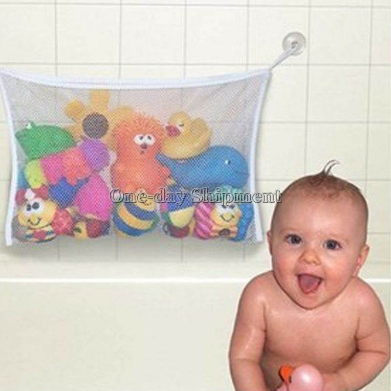 new kids bath tub toy bag hanging organizer storage bag baby bathing accessor. Black Bedroom Furniture Sets. Home Design Ideas