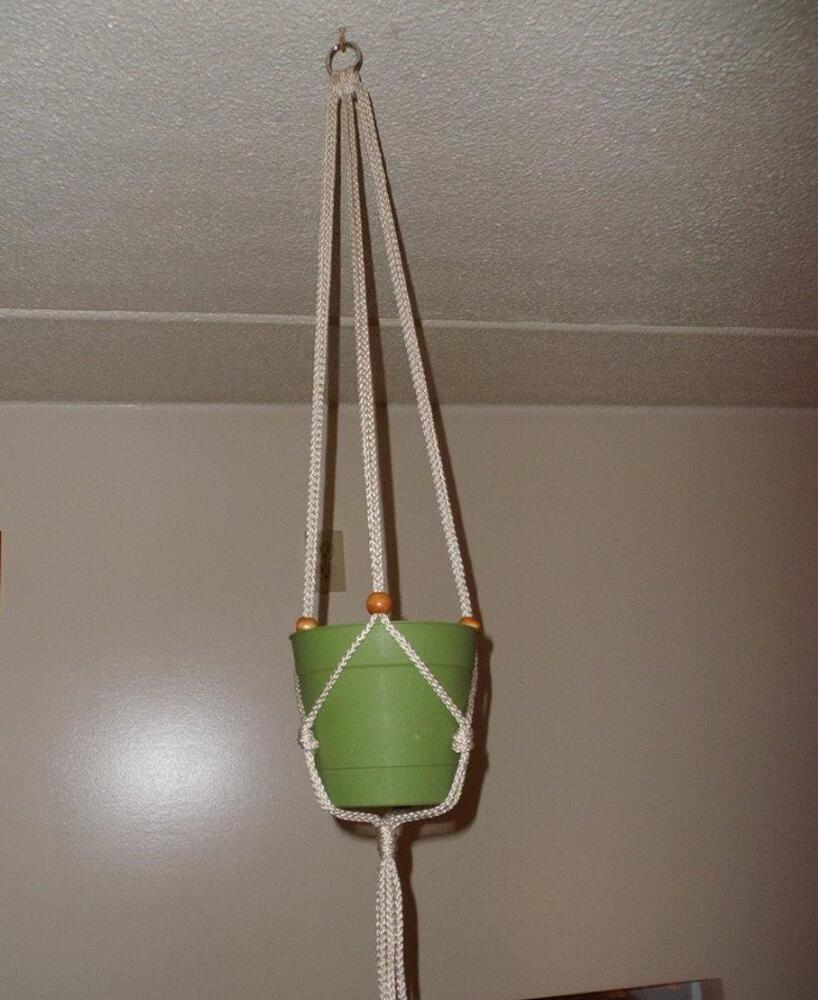 macrame pot hangers macrame plant hanger holds a 4 to 10 inch pot 38 quot 2676