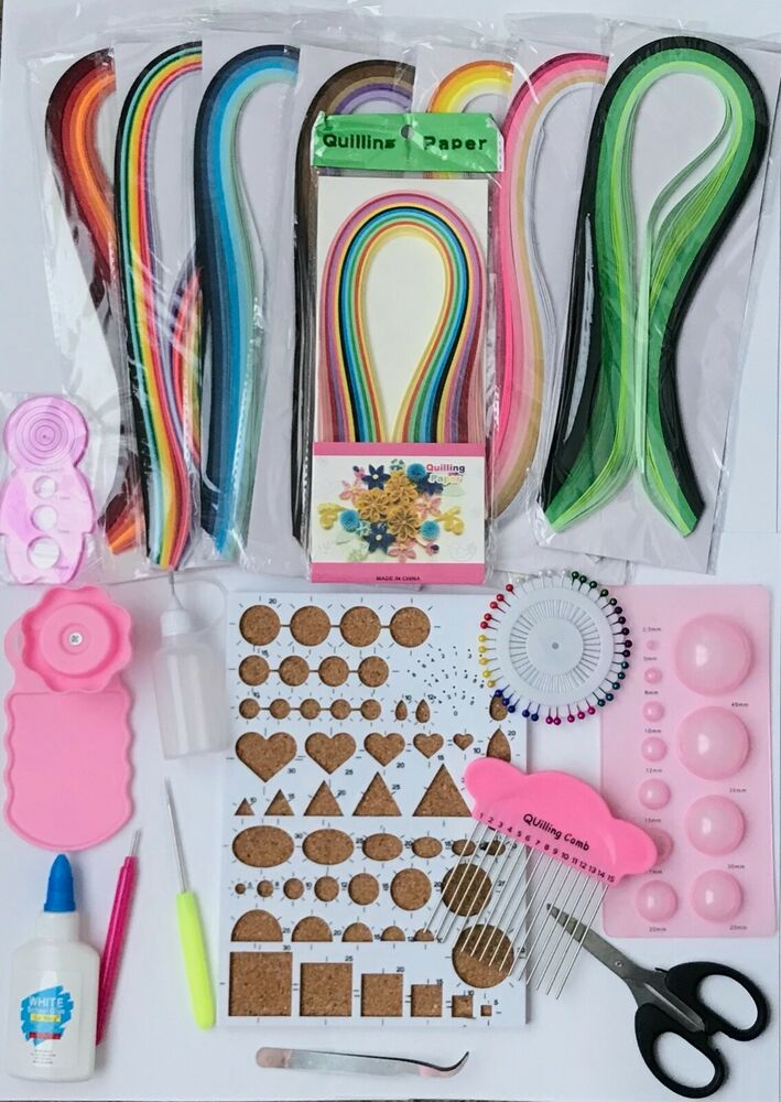 New Quilling Kit Template Board Papercraft Tool Glue Pins ...