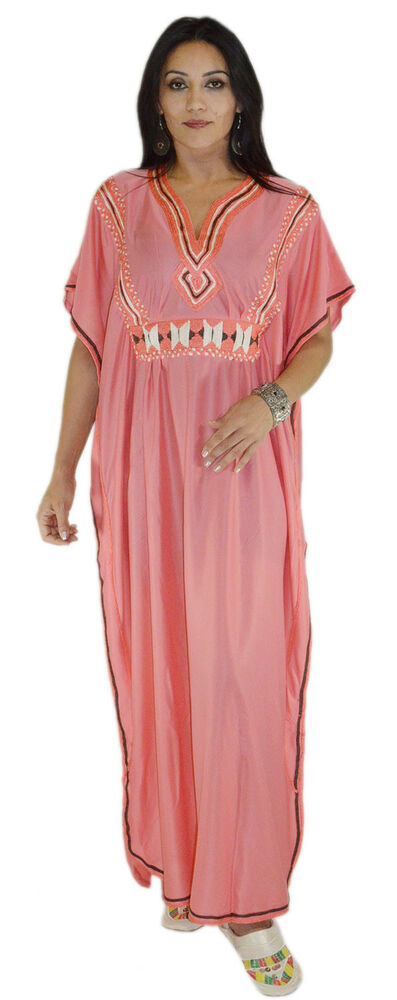 Moroccan Caftans Women Embroidered Long Length One size ...
