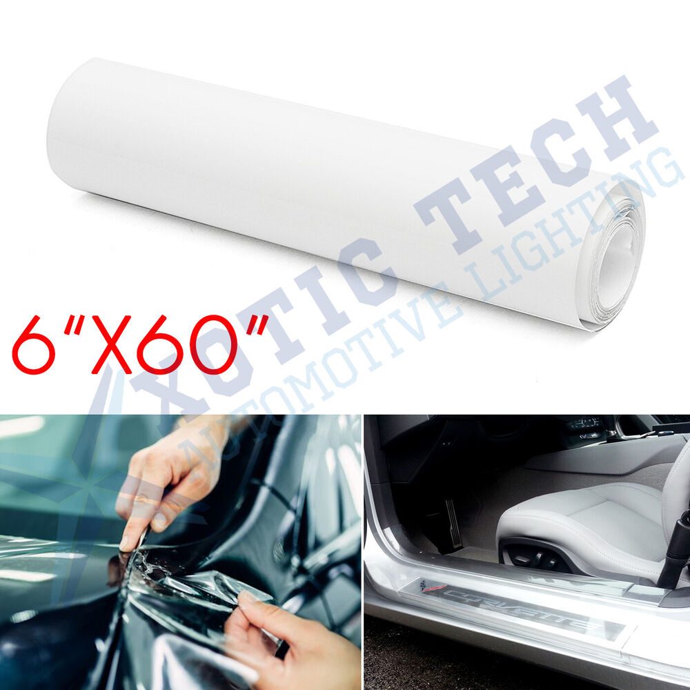 clear car door sill edge paint protection vinyl film prevent scratches 6 x 60 ebay. Black Bedroom Furniture Sets. Home Design Ideas