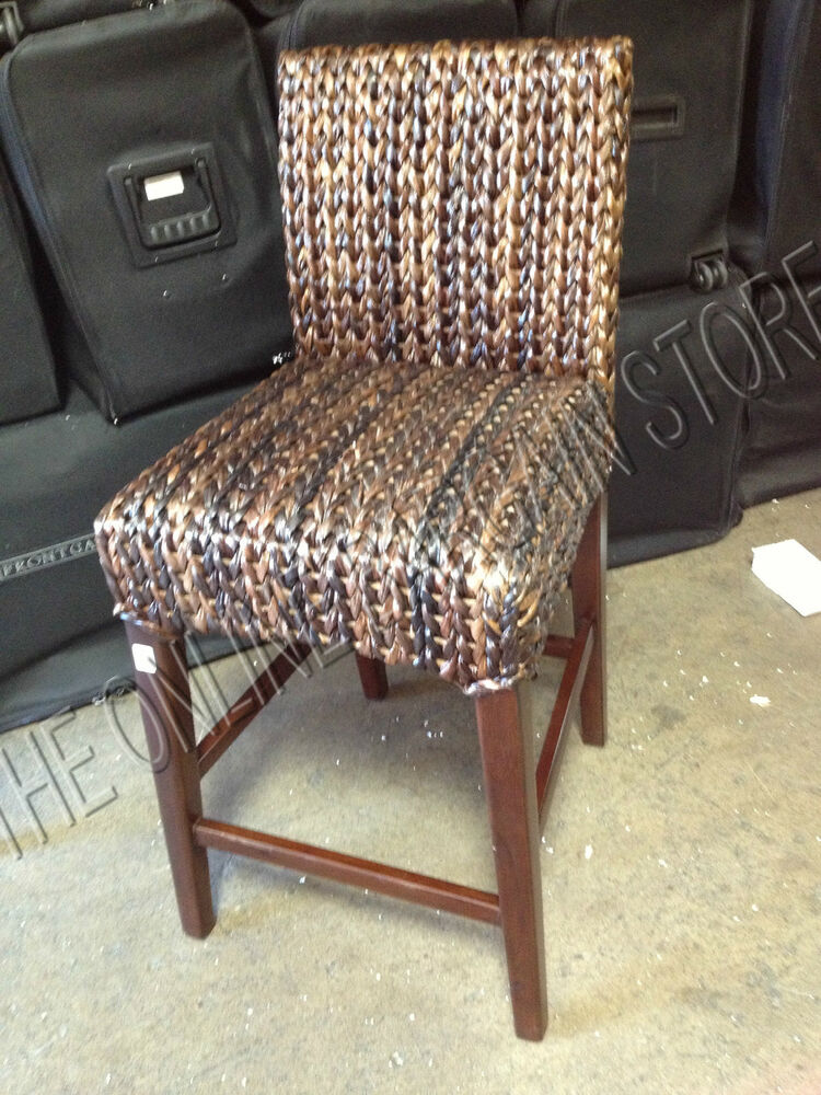 Pottery Barn Woven Seagrass Barstool Brown Havana Chair