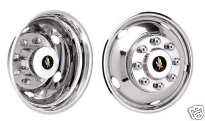 "2013 Dodge ram 3500 17"" Dually Wheel Simulators BOLT ON stainless hubcaps liners 