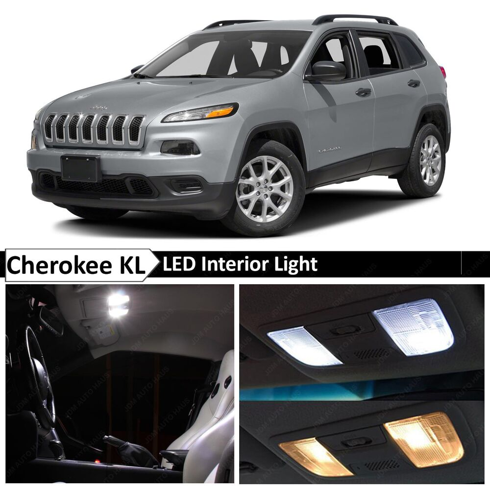 2015 Jeep Cherokee Interior: 15x White LED Interior Lights Package Kit For 2014-2015