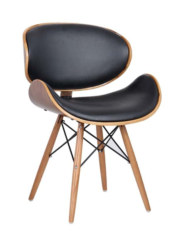 eames retro style dsw dining lounge office chair solid wood legs walnut finish ebay. Black Bedroom Furniture Sets. Home Design Ideas