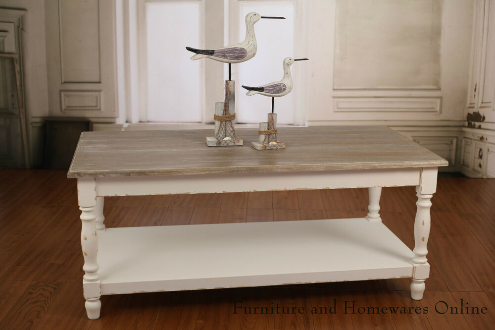 Coffee table with storage shelf french provincial for Coffee tables ebay australia