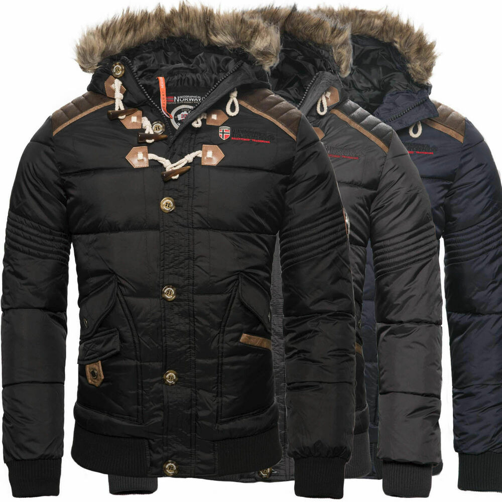 geographical norway herren winter jacke steppjacke parka belphegor winterjacke ebay. Black Bedroom Furniture Sets. Home Design Ideas