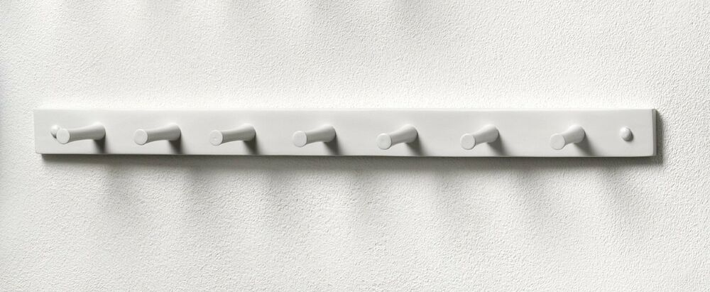 Hook rack hanger coat hat wall stand rail mount hallway for Peg rail ikea