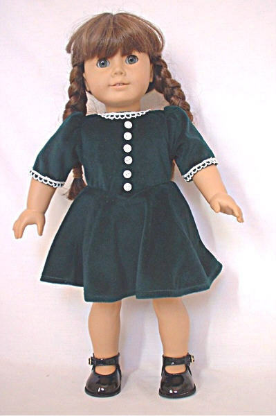 doll clothes fit ag 18 dress 1940 molly velvet made to fit american girl dolls ebay. Black Bedroom Furniture Sets. Home Design Ideas