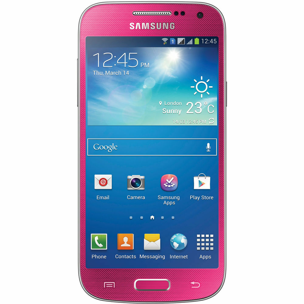 samsung galaxy s4 mini sgh i257 16gb gsm unlocked smartphone pink great ebay. Black Bedroom Furniture Sets. Home Design Ideas