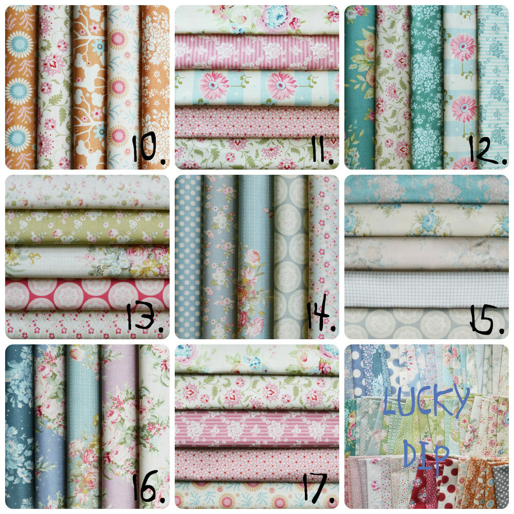 Tilda fabric pack bundle 100 cotton mixed assorted charm for Cotton quilting fabric