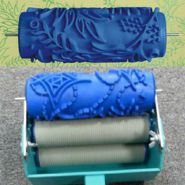 Diy Wall Texture With Roller : Empaistic texture pattern wall painting paint roller brush