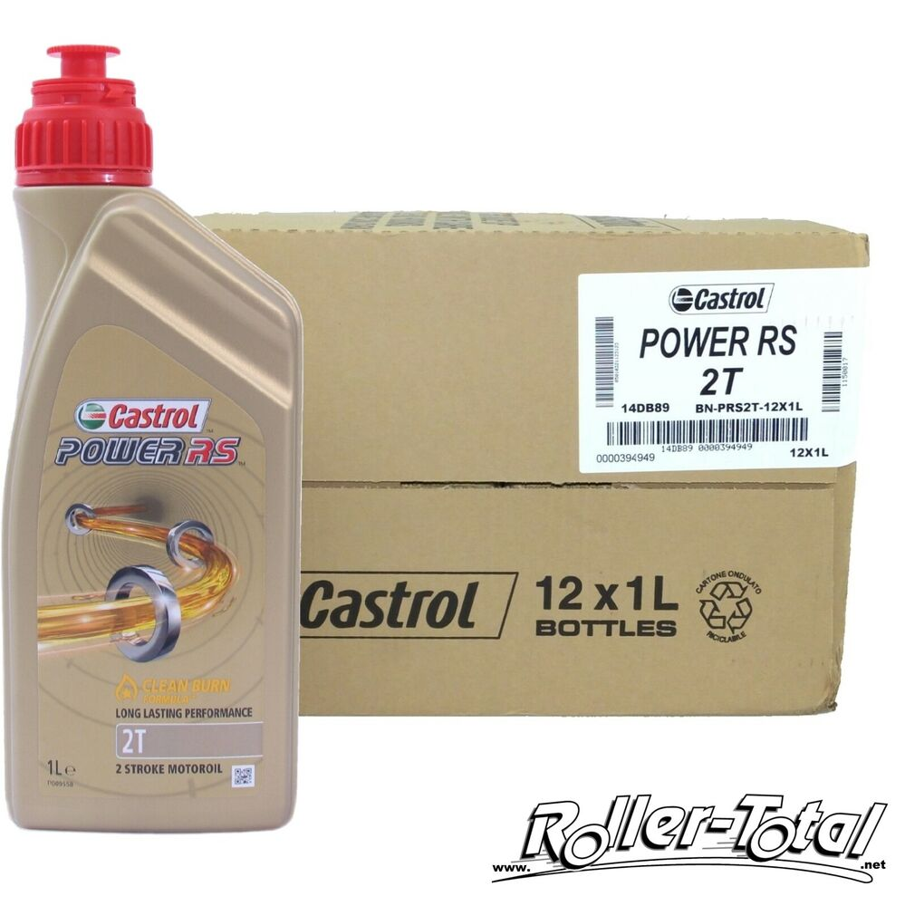 12x1 liter castrol power rs 2t vollsynthetisch zweitakt l. Black Bedroom Furniture Sets. Home Design Ideas