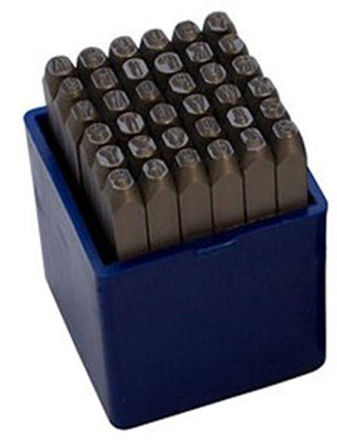 36pc Number And Letter Punch Set Hardened Steel Metal Die