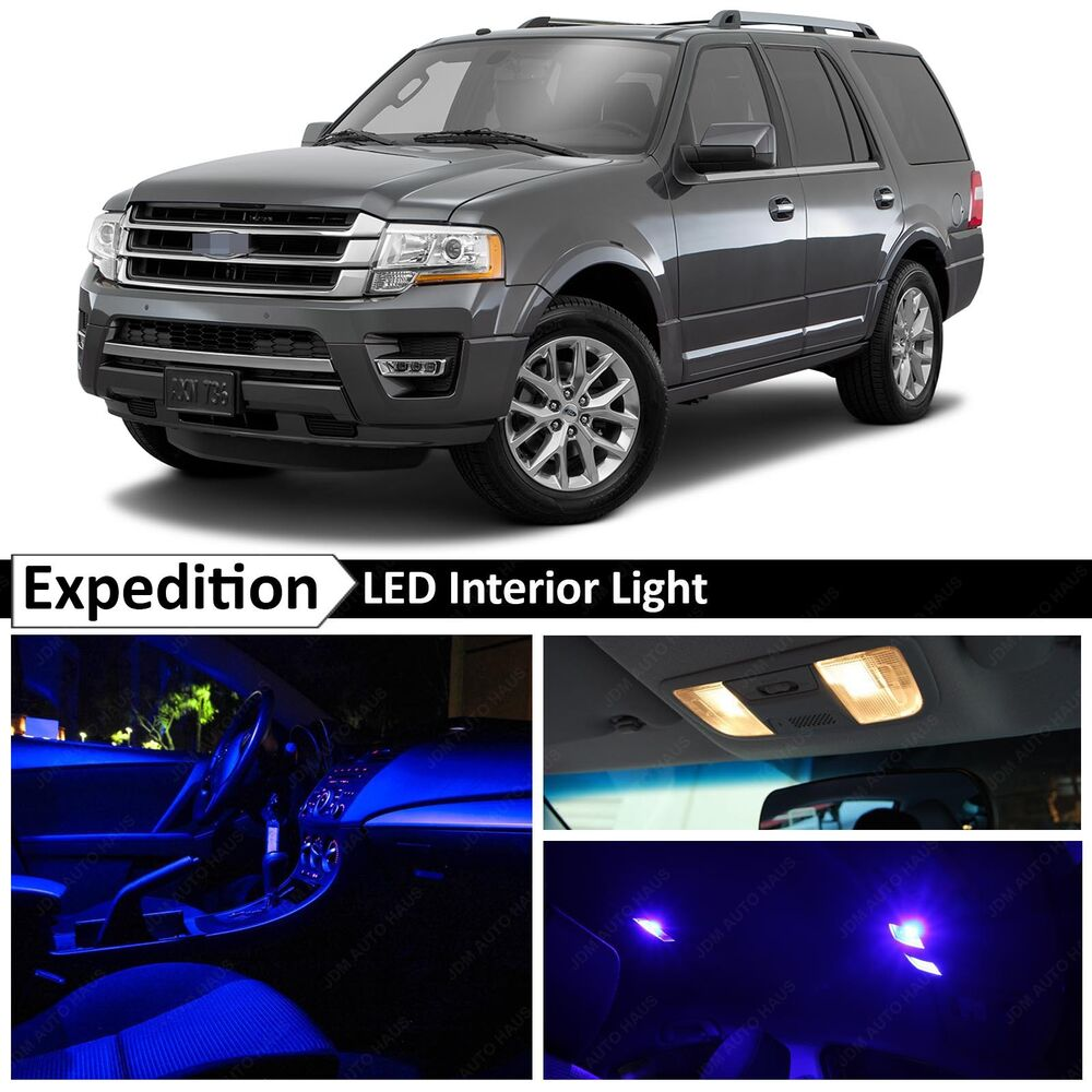 Details About 16x Blue Interior Led Lights Package Kit For 2017 2016 Ford Expedition