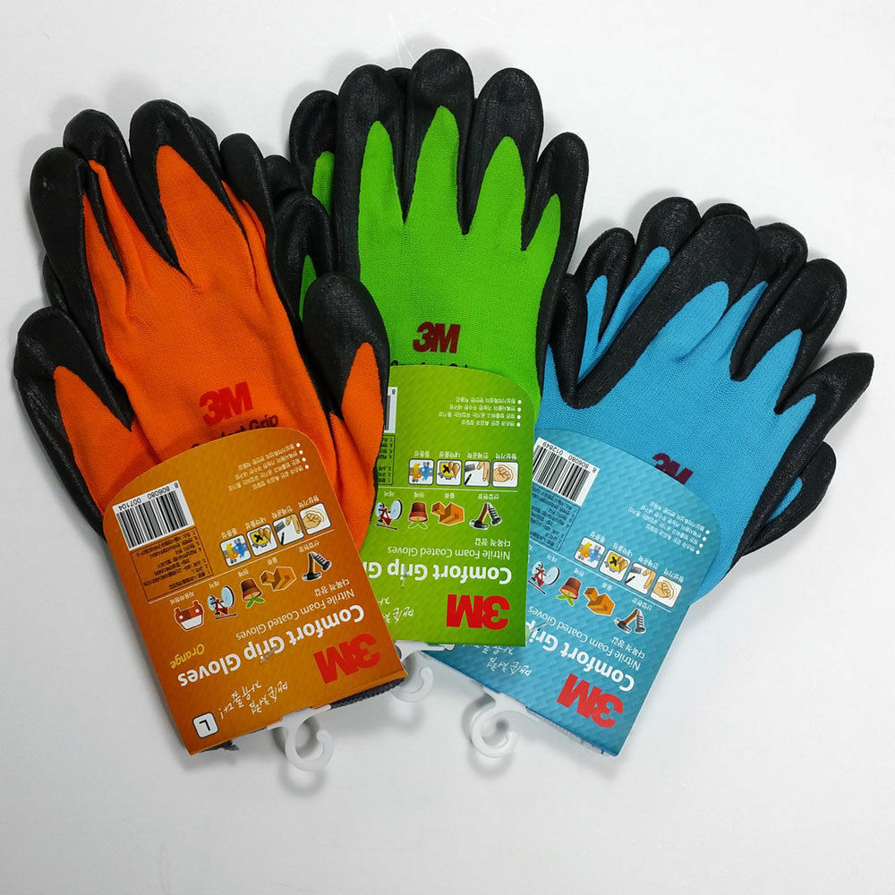 3m Gloves Nitrile Foam Coated Gloves 2 Pairs Work Comfort