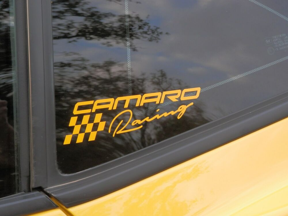 Camaro Graphic Racing Decal Graphic Camaro Window