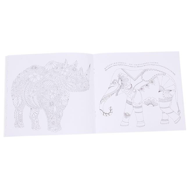 Animal Kingdom Drawing Art Coloring Book Adult Children Anti Stress 24Pages