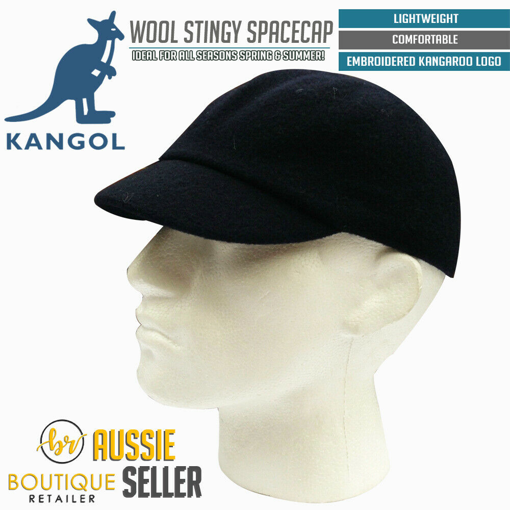 3a0a10408e5a2f Details about KANGOL Wool Stingy Space Cap 6907BC Warm Winter Hat - Navy  Blue