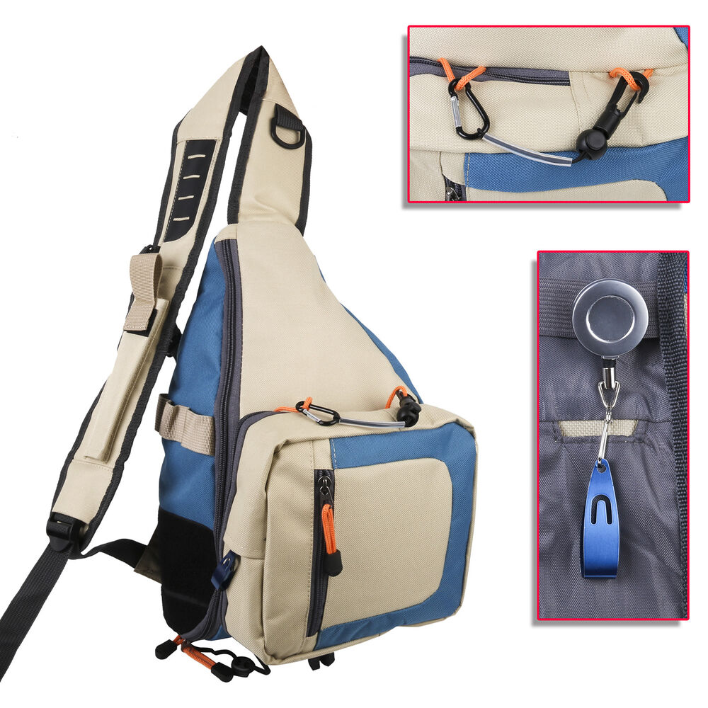 Fly fishing sling pack free tippet holder and line nipper for Fishing sling pack
