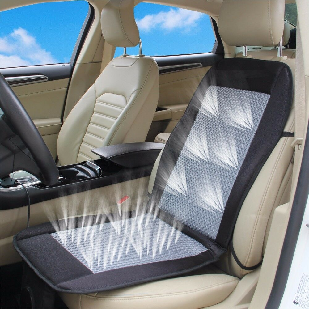 cooling car seat cushion cover 12v air ventilated fan air conditioned cooler pad ebay. Black Bedroom Furniture Sets. Home Design Ideas