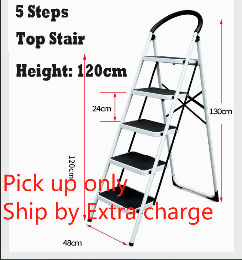 Domestic Ladder 5 Steps Folding Steel Step Ladder Soller