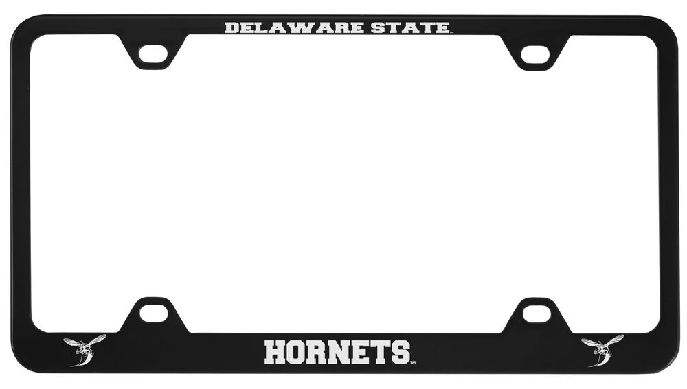 Delaware State University Metal License Plate Frame Black