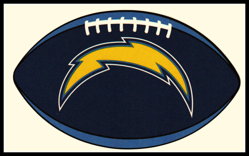 Lot Of 5 San Diego Chargers Oval Football Nfl Team Logo