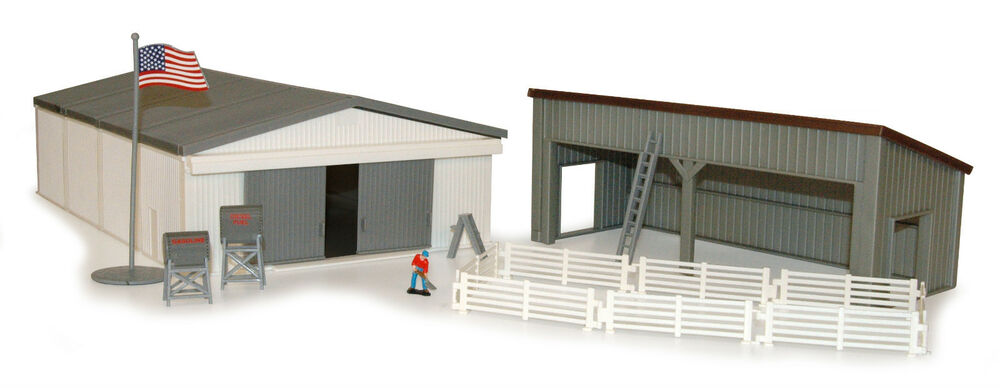 1 64 Ertl Farm Country Machine Shed W Lean To Set 12930