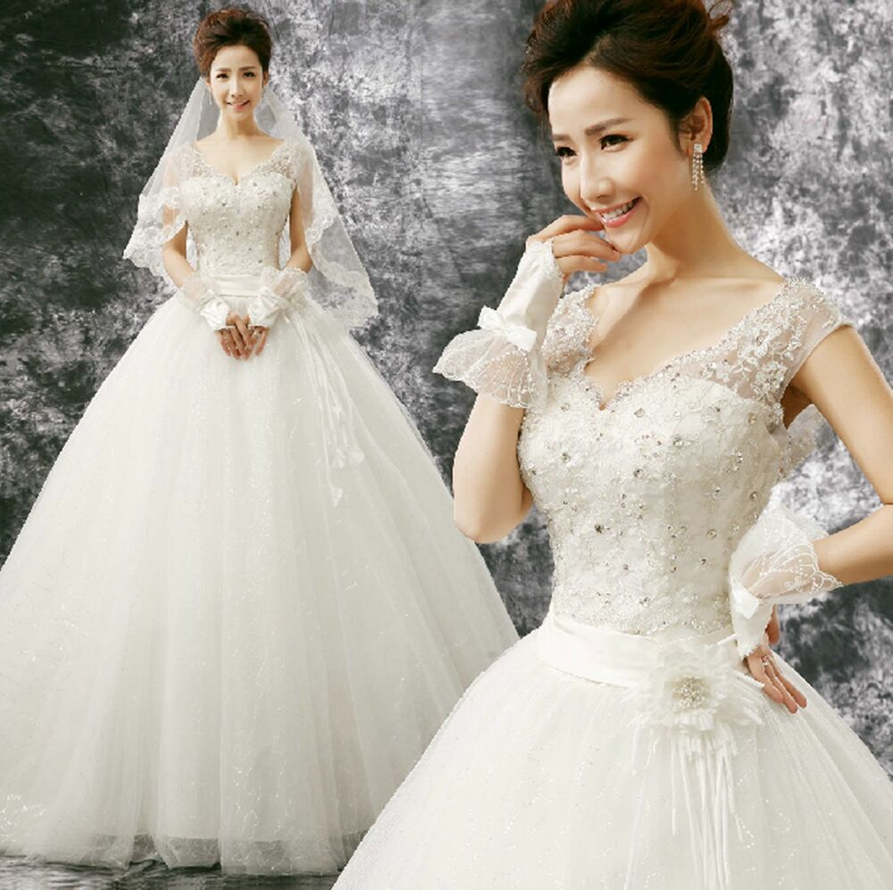 Cheap Price Off Shoulder Embroider Lace V-Neck Bridal