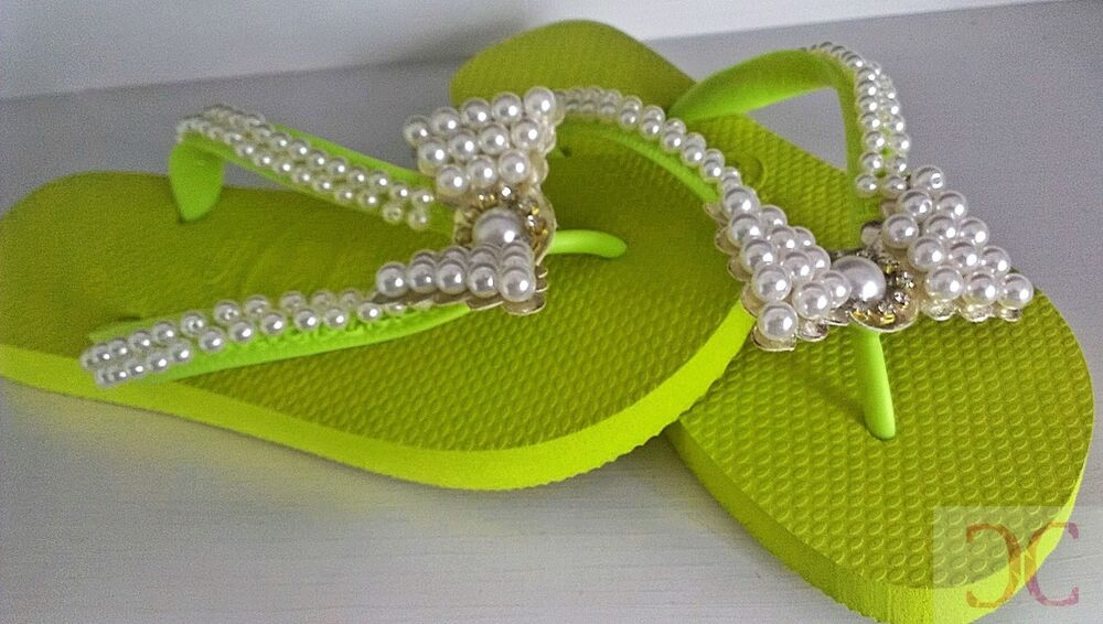 771fe2b5cd5d Details about Havaianas Top - Customized Flip Flops - Perls