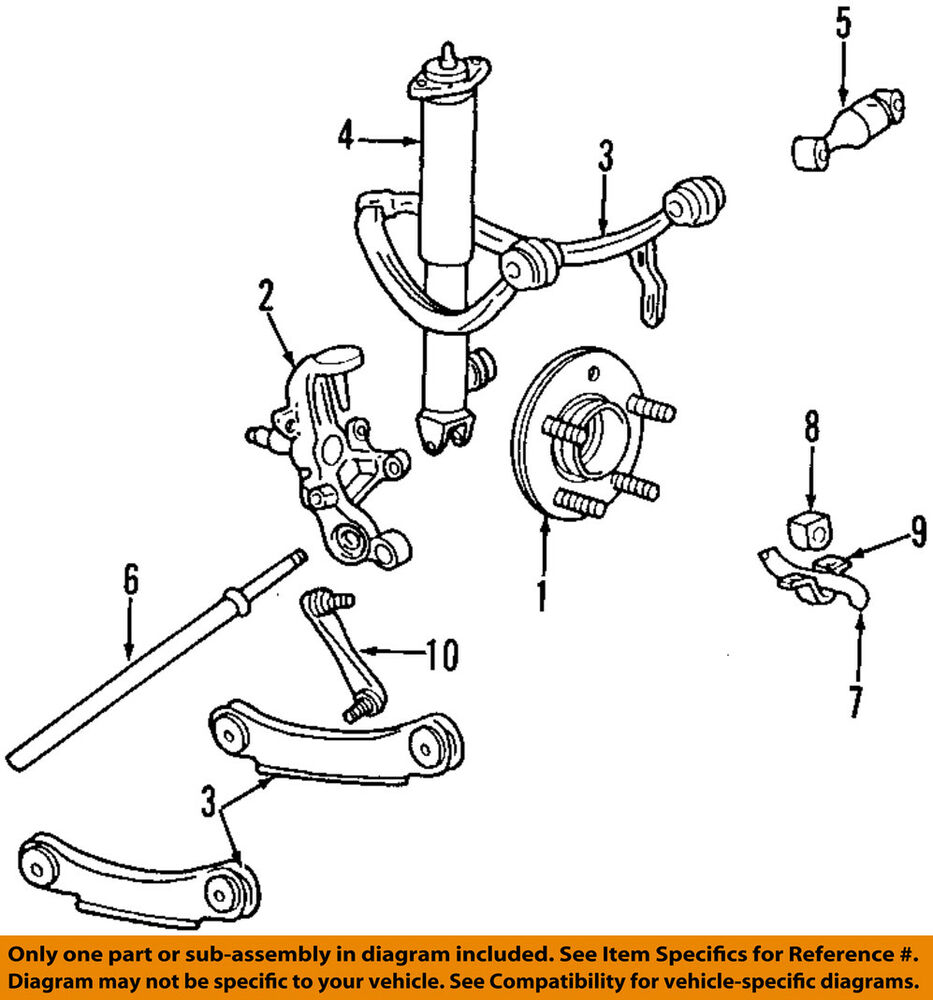 Lincoln Ford Oem Continental Rear Stabilizer Sway Bar